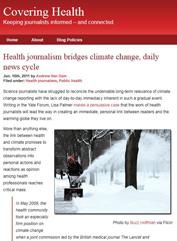 Health journalism bridges climate change, daily news cycle